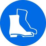 Работа в защитной обуви