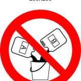 Запрещается смешивать жидкости
