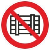 Запрещается загромождать проходы и (или) складировать